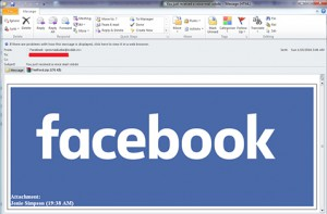 Image of FB Spam Email via Net-Security.com